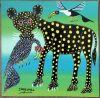 NASOMBE_leopard_Tingatinga_painting_039_30x30cm